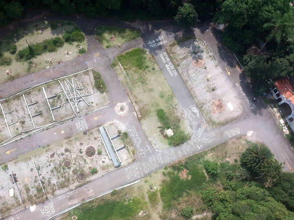 Fotografía aérea del parque Augusta de São Paulo realizada con Flone, abril de 2015. Fuente: Lot Amorós en Grupo Organismo Vivo Parque Augusta.