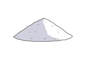 Montaña Polvo metálico